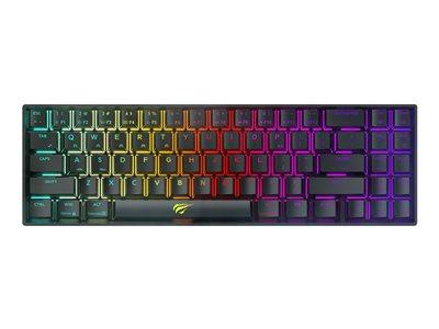 Havit GAMENOTE KB496L Tastatur Mekanisk RGB Trådløs Kabling